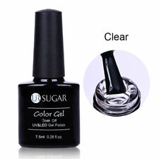 2 Bottles White Clear Soak Off Nail Art Blossom UV Gel Pure Color Decor UR SUGAR