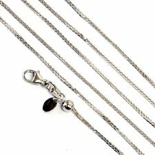 """14k white gold spiga .9mm wheat chain 20"""" 19"""" 18"""" 16"""" adjustable necklace 2.7g"""