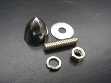"""Harley Davidson Chrome Acorn Bullet License Plate Bolt Kit 93006-77 NOS 1/4""""-20"""
