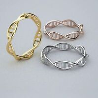 DNA Double Helix Structure Molecule Ring Chemistry Jewellery Science & Gift Bag