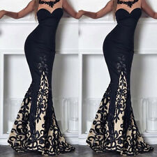 Womens Bandeau Bodycon Fishtail Long Maxi Dress Cocktail Evening Party Ball Gown