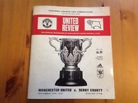 Manchester United V Derby County Carabao Cup Programme 2018/19 25th September 18
