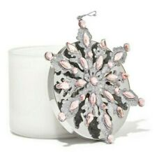 BATH & BODY WORKS 3-WICK CANDLE MAGNET PINK SNOWFLAKE NEW
