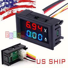 Mini DC 100V 10A Digital Voltmeter Ammeter Blue Red LED Voltage Amp Meter Gauge