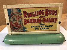 Ac Gilbert American Flyer 577 Whistling Billboard Ringling Bros, Barnum & Bailey