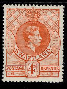 SWAZILAND GVI SG33a, 4d orange, M MINT.