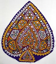 Vintage Antique Kutchi Rabari Forme Coeur Broderie Miroir Work Patch Pour Shirt