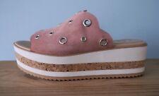 Gadea Platform Wedge Suede Stripe Cork Heel Sandals  - size 7 *RRP £60