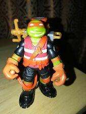"2012 VIACOM ACTION FIGURE TMNT 4"" Tall MICHAELANGELO With Back Pack (3)!"