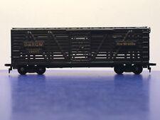 """HO Scale """"D&RGW Rio Grande"""" 39497 Livestock Freight Train Car"""
