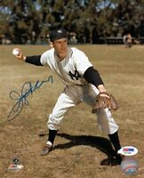 JERRY COLEMAN SIGNED AUTOGRAPHED 8x10 PHOTO NEW YORK YANKEES PSA/DNA
