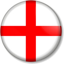 """English Flag 25mm 1"""" Pin Button Badge St George's Cross England Patriotic Proud"""