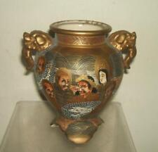 JAPANESE SATSUMA IMMORTALS DRAGON MEIJI PERIOD SIGNED VASE