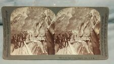 "Antique Stereoview Card Keystone View Co ""In The Heart Of Box Canyon, Colo USA"