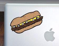 "Philly Cheesesteak Art Full Color Decal for 13"" Macbook Philadelphia"
