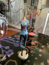 """Rare Detailed Mannequin Doll Jean 14"""" Stand Miniature  Decor Display Jewelry"""