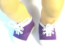 Purple Sneakers 15 in Baby Doll Clothes Fits American Girl  Bitty Baby Twin