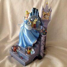 RARE Disney Europe Cinderella MAGICAL BALL NITE Lg Musical Fig SnowGlobes-HTF