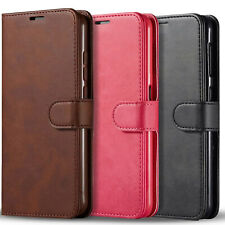 For Samsung Galaxy A21 Case, Premium Leather Wallet + Tempered Glass Protector
