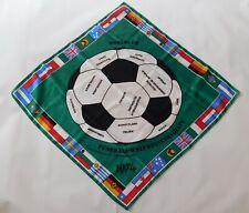 Vtg ORIGINAL 1974 WORLD CUP Deutschland GERMANY 74 SOCCER FOOTBALL Acetate Scarf