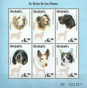NICARAGUA 2000 the WORLD of DOGS M/S MNH DOMESTIC ANIMALS