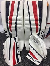 "New CCM 860 INT Goalie leg Pad  W/ Matching Glove set COLUMBUS 30""+1"" Blow-out!!"