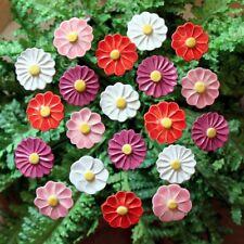 20 Blumen, Keramik, Grabschmuck, Garten,Geschenk, Herbst, Tischdeko, 6297