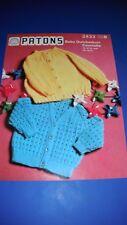Patons Baby cardigans Knitting Pattern 2433