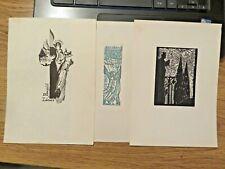 More details for    three vintage ex libris ,incl.maria elisa leboroni
