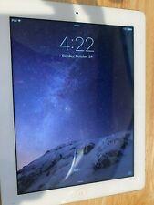 "Apple iPad 3 16GB MD328LL/A A1416 9.7"" White & Silver WiFi iOS 9.3.5 *READ*"