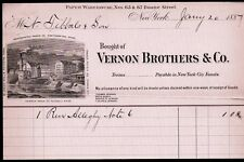1887 Vernon Brothers & Co Paper New York Vintage Letter Head Rare