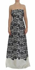 NWT DOLCE & GABBANA Dress White Floral Lace Silk Corset Maxi IT40 /US6 /S