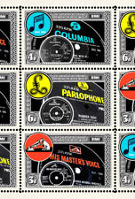 EMI Records 60s Labels Tribute (Artistamp, Faux Postage) Parlophone, Columbia