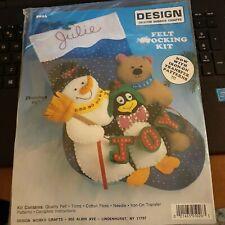 Design Works Crafts Felt Stocking Kit 5026 Snowman, Bear and Penguin