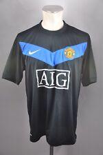 2009-10 Manchester United Trikot Nike Jersey Gr. L Away AIG Jersey