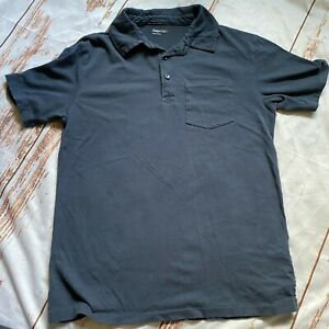 Gap Kids boys polo short sleeve shirt-dusty blue-size Large 10/12-GUC