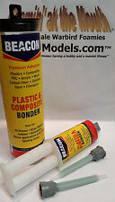 BEACON PLASTIC & COMPOSITE BONDER Super-tough MMA Methacrylate Glue 25ml syringe