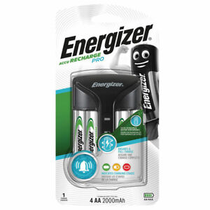 Energizer Pro Chargeur Pour AAA Et Aa Nimh + 4 Aa 2000 MAH Piles Rechargeable