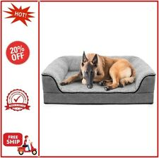 DogBaby Dog Bed for Small Dogs, Washable Pet Sofa Bolster Bed with Removable