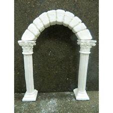 Colonne con Arco in Gesso 15x20 Cm Porta Arcata Corinzio Tempio Pastori Presepe