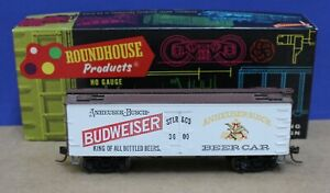 Roundhouse 3137 HO 36' Wood Billboard Reefer Budweiser Beer Built Boxed KDs MW