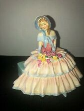 Royal Doulton Porcelain Figurine Day Dreams Hn1731 Woman Seated with Flowers