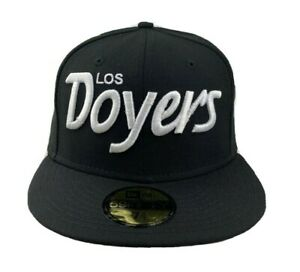 Los Angeles Dodgers Scrip Logo Los Doyers New Era  Fitted Cap hat Black white