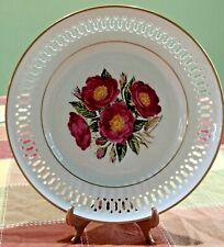 "The Danbury Mint 12 Rose Plates Rosa Gallica By Bing & Grohdahl 1979 8"" Plate"
