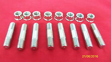 69-72 TRIUMPH T120 NEW CYLINDER BASE STUDS & NUTS 21-1865  21-0692 UK MADE