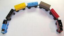 46 Piece Set- Thomas Wooden Train Engine & Caboose & Track Plus 5 Generic Cars