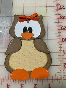 Girl Owl Animal scrapbook premade paper piecing