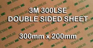 3M 300LSE DOUBLE SIDED SHEET - SUPERIOR QUALITY - MOBILE PHONE REPAIR- MANY USES