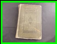 Business Arithmetic Hardcover 1928 Craft Repurpose Decor Miner Elewell Touton