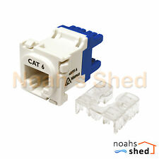 50 X Cat6 Rj45 8p8c Network LAN Data Jack Mech Insert Socket Clipsal Style WHT